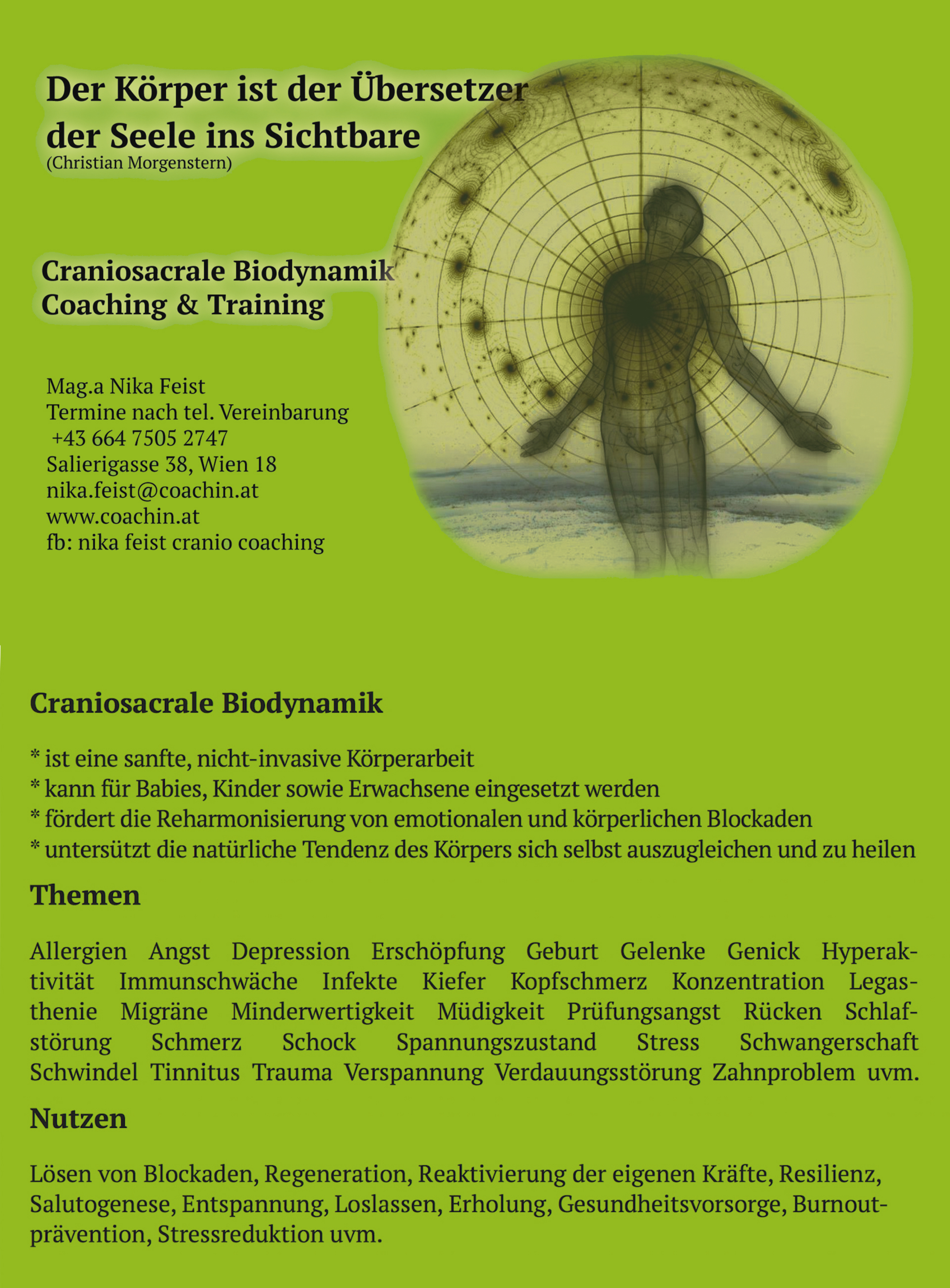 Cranio Coaching Training Klang Channeling Meditation